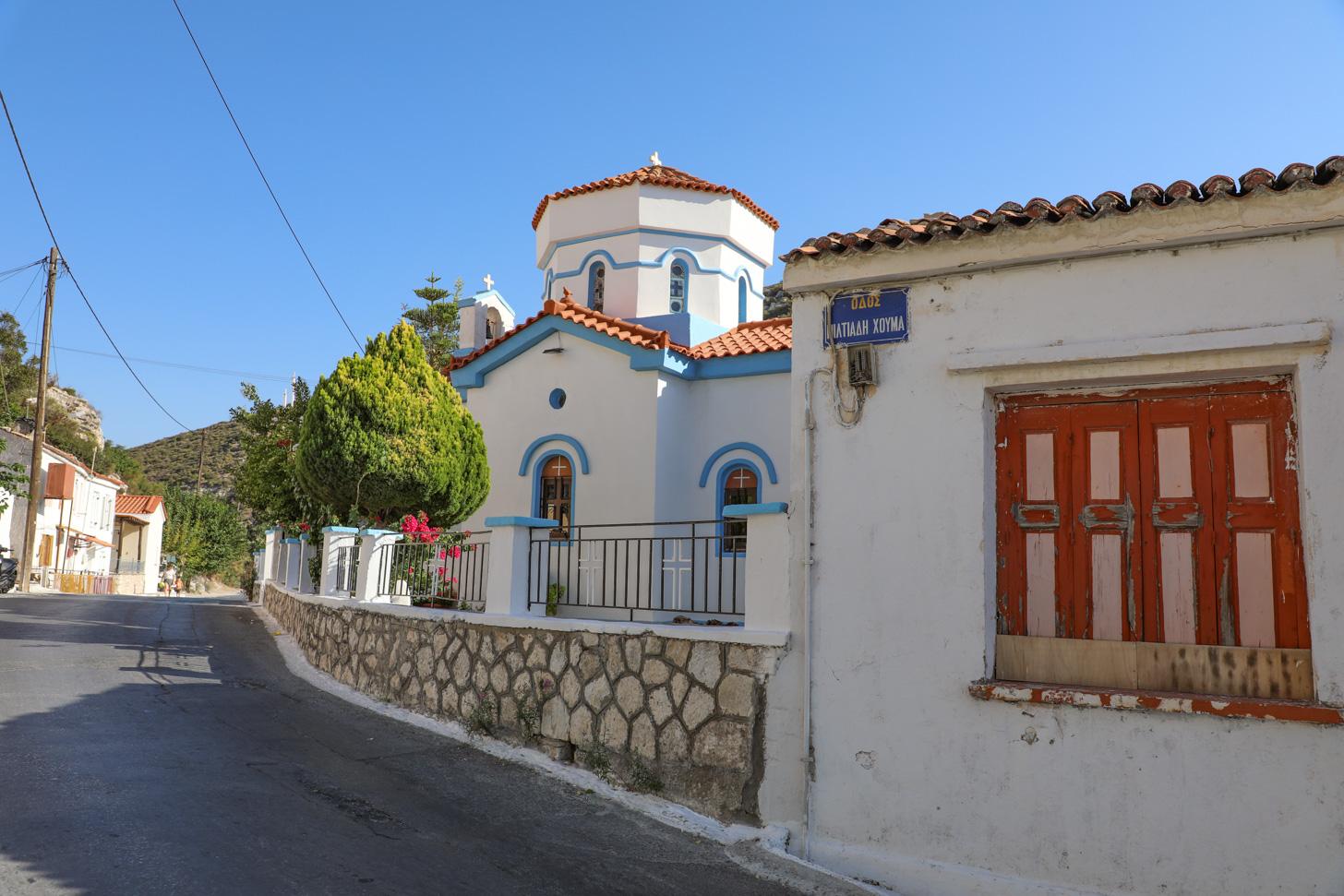 Het dorp Chóra, dat vroeger ooit de hoofdstad van Samos was.