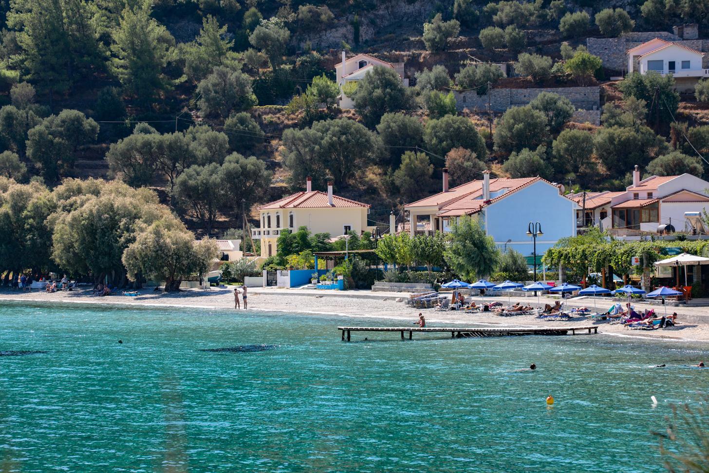 Het dorpje Kerveli op Samos
