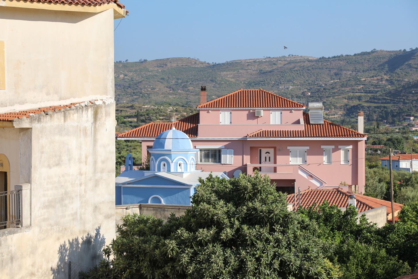 Het dorp Mitilinii