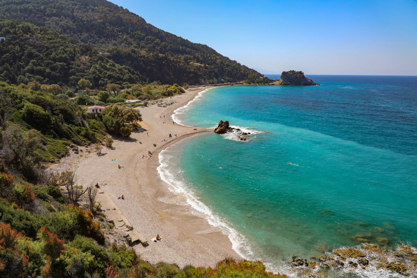 Potámi Beach is een prachtig strand op Samos.