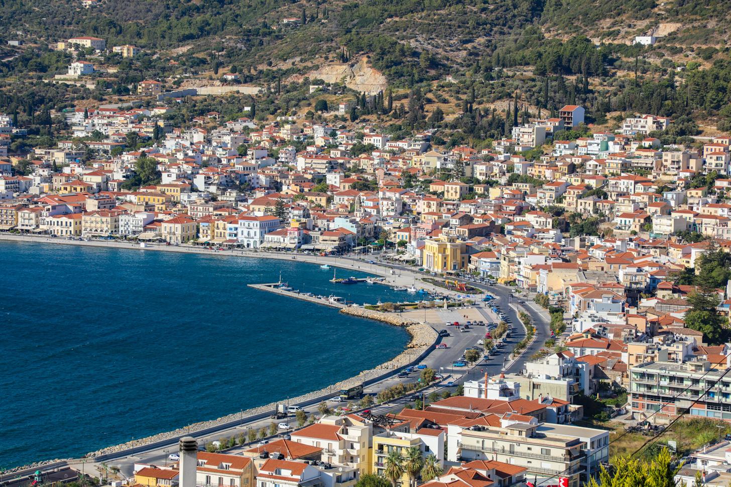 Uitzicht op Samos-stad
