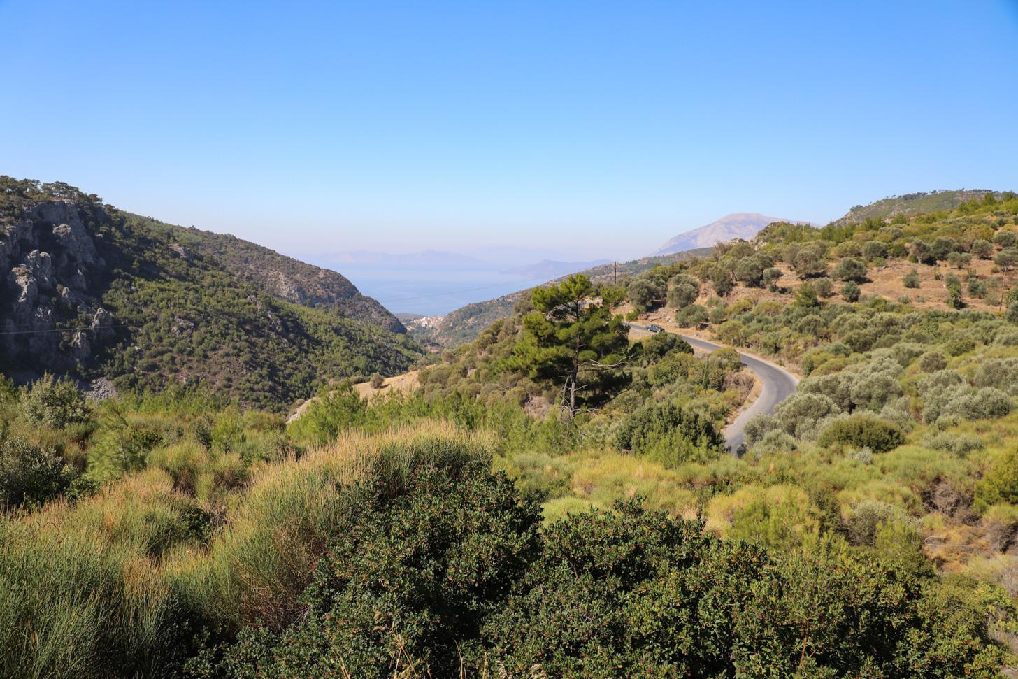 Samos is een buitengewoon groen eiland