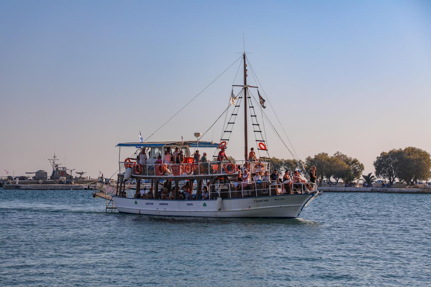 Je kunt de boot rond Samos als vervoermiddel gebruiken.